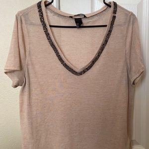 H&M pink bling shirt